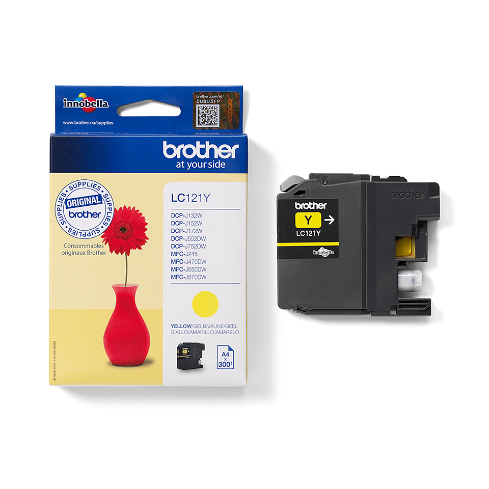 Brother LC121Y Cartuccia inkjet originale - giallo 2