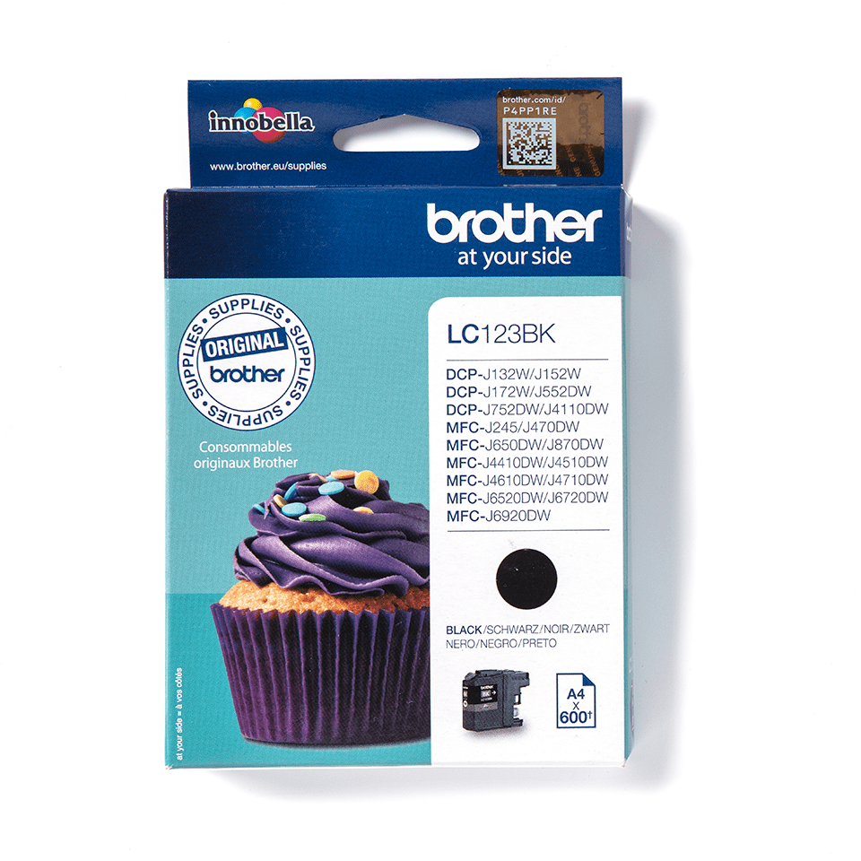 Brother LC123BK Cartuccia inkjet originale - nero