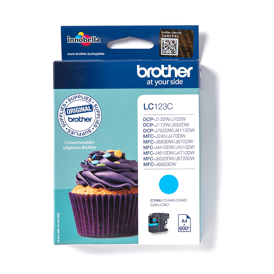 Brother LC-123C Cartuccia inkjet originale - ciano