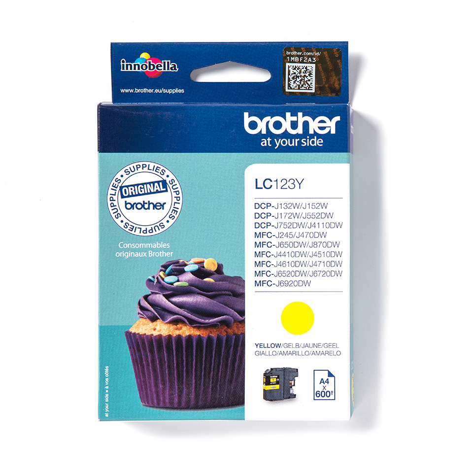 Brother LC-123Y Cartuccia inkjet originale - giallo 2