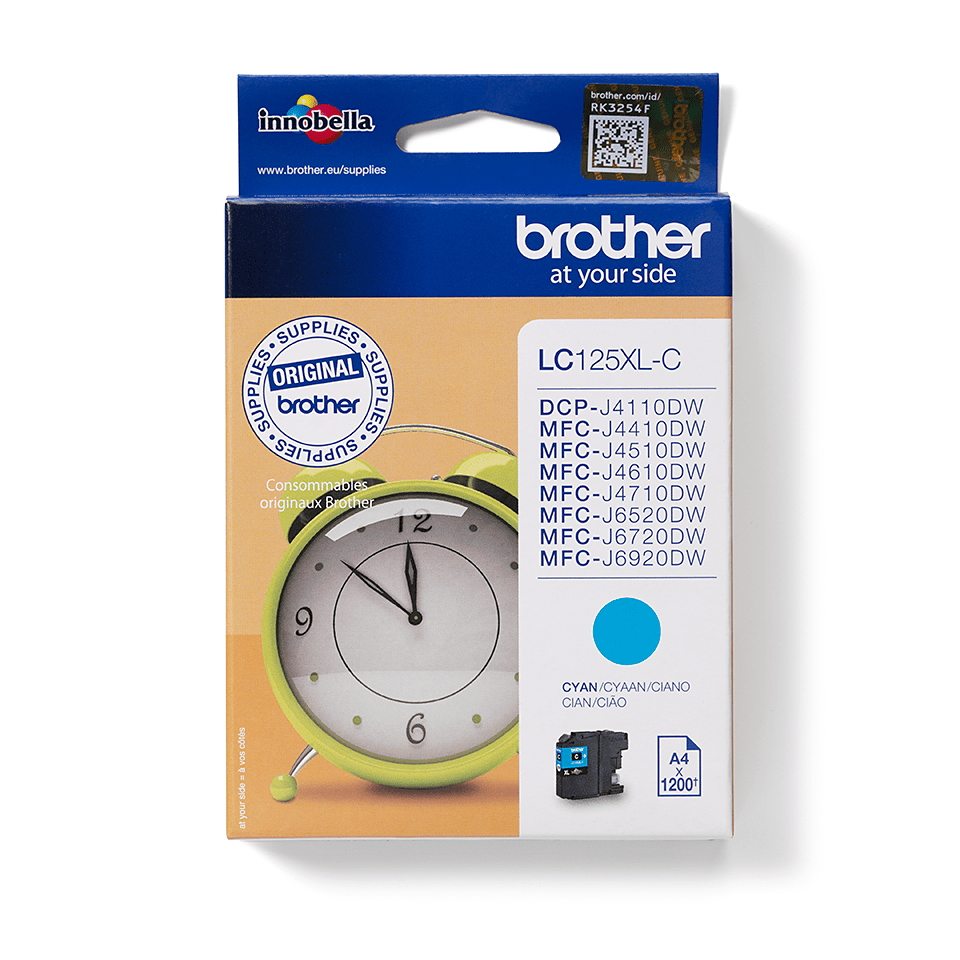 Brother LC125XLC Cartuccia inkjet XL - ciano 0
