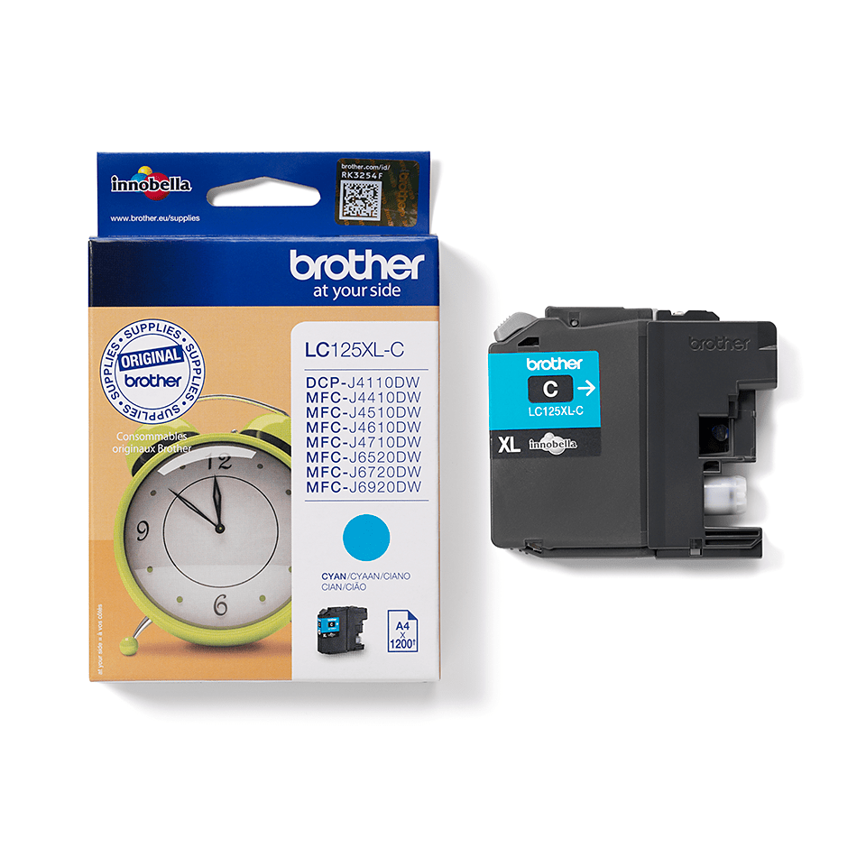Brother LC125XLC Cartuccia inkjet XL - ciano 1