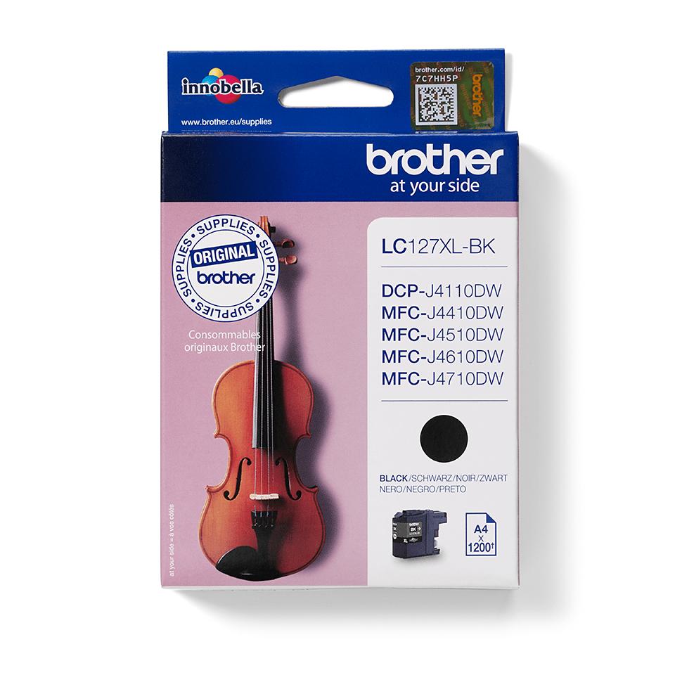 Cartuccia d'inchiostro ad alto rendimento originale Brother LC127XLBK – Nero