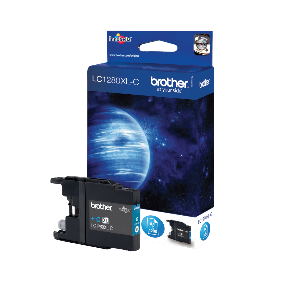 Brother LC1280XLC Cartuccia inkjet XL originale - ciano