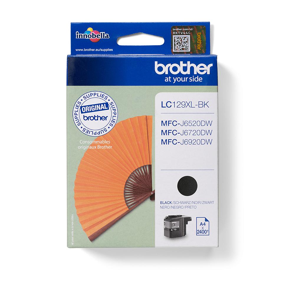 Brother LC129XLBK Cartuccia inkjet originale ad alta capacità - nero