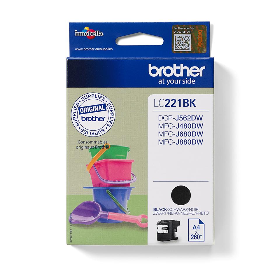 Brother LC221BK Cartuccia inkjet originale - nero