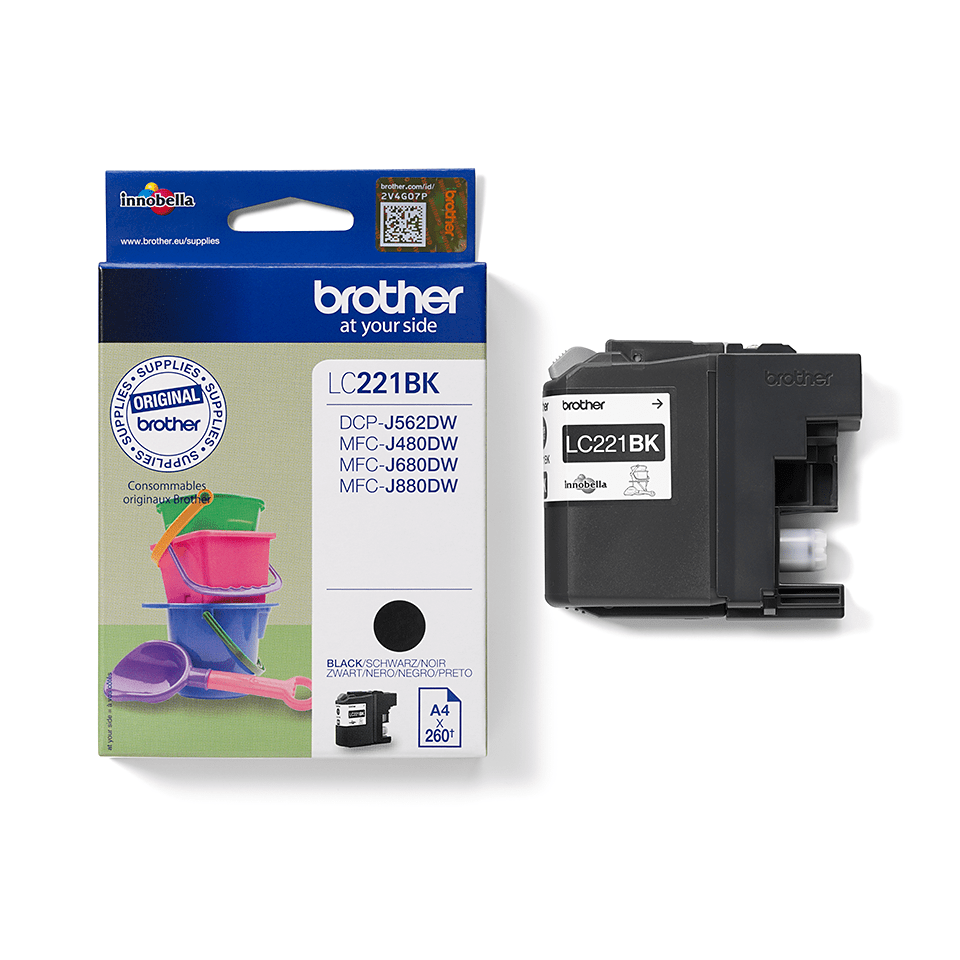 Brother LC221BK Cartuccia inkjet originale - nero 2