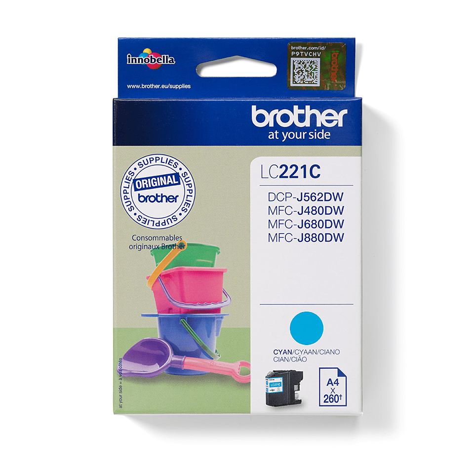 Brother LC221C Cartuccia inkjet originale - ciano
