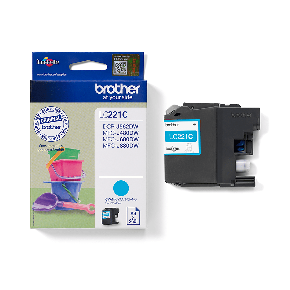 Brother LC221C Cartuccia inkjet originale - ciano 2