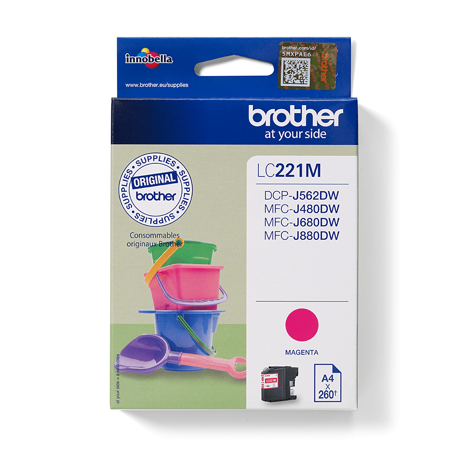 Brother LC221M Cartuccia inkjet originale – magenta