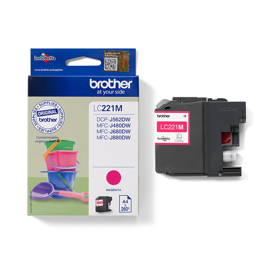 Brother LC221M Cartuccia inkjet originale – magenta 2
