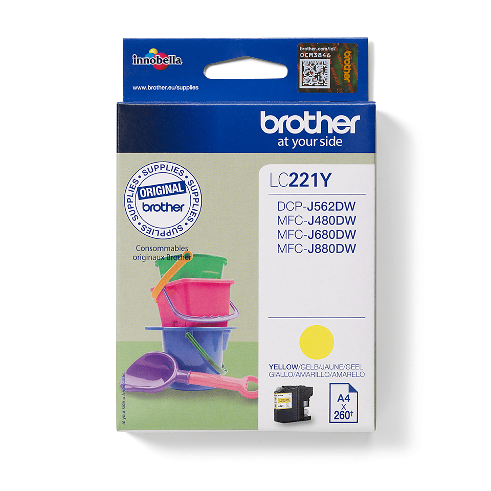 Brother LC221Y Cartuccia inkjet originale - giallo