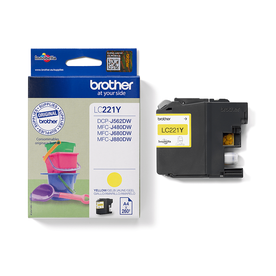 Brother LC221Y Cartuccia inkjet originale - giallo 2