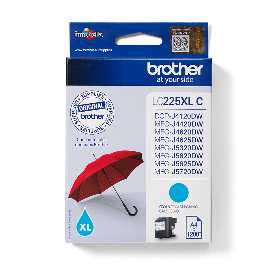 Brother LC225XLC Cartuccia originale inkjet XL - ciano