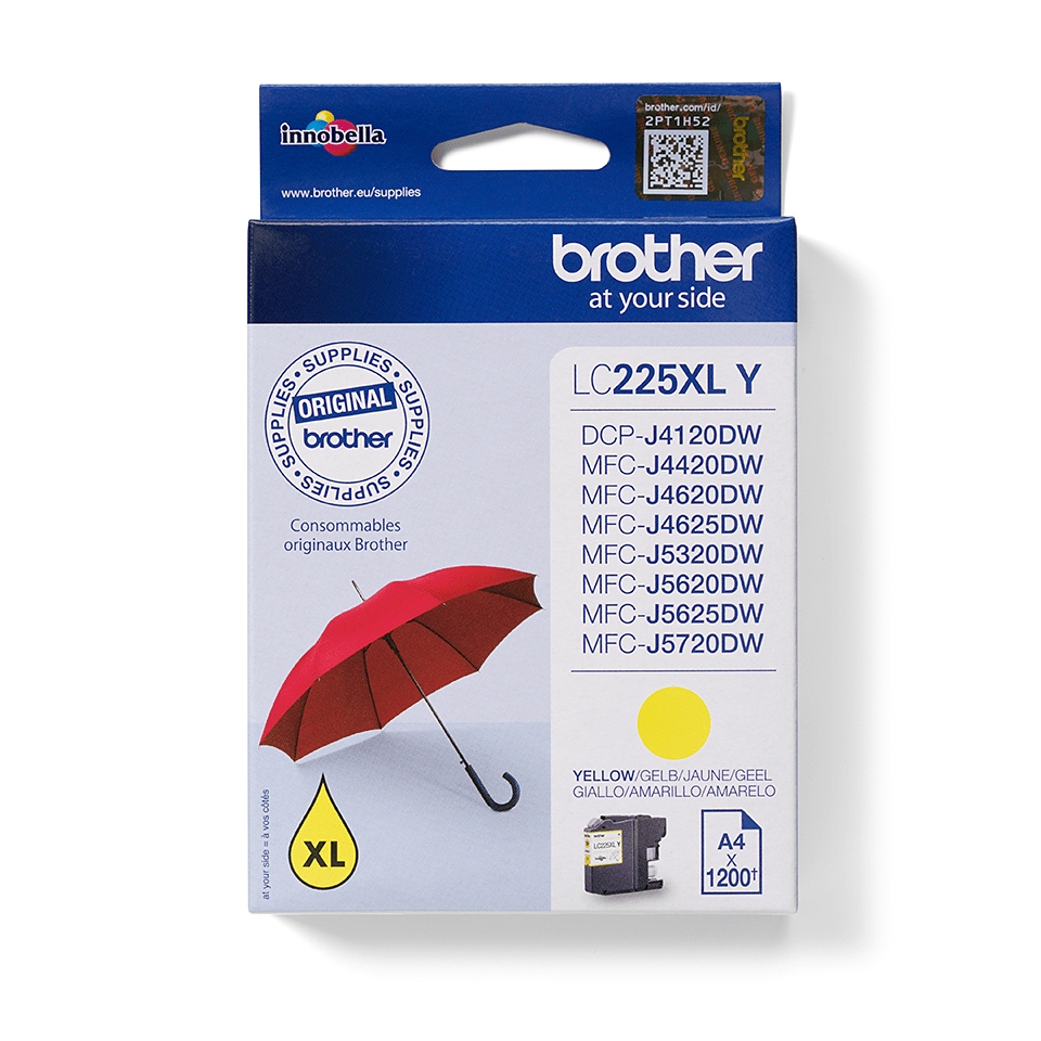 Brother LC225XLY Cartuccia originale inkjet XL - giallo