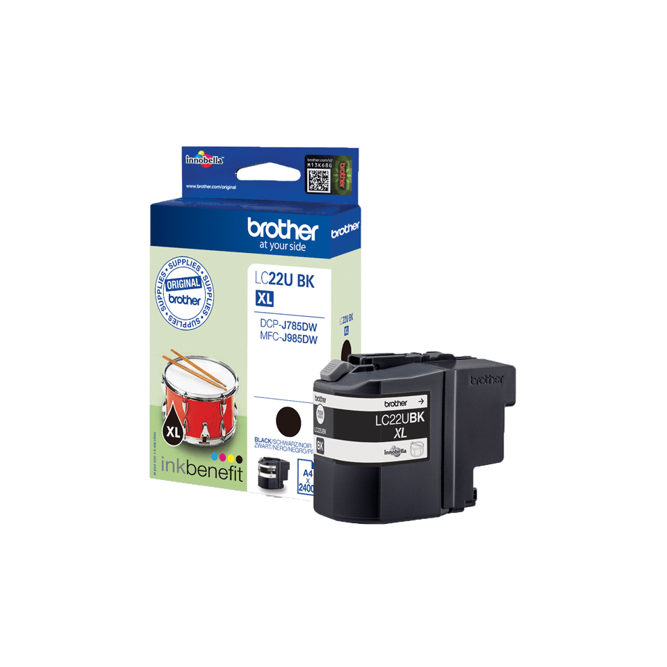 Brother LC22UBK Cartuccia inkjet originale - nero
