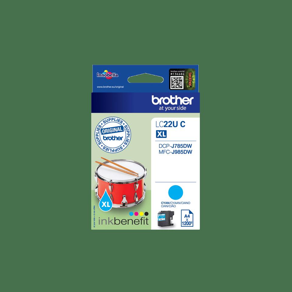 Brother LC22UC Cartuccia inkjet originale - ciano 2