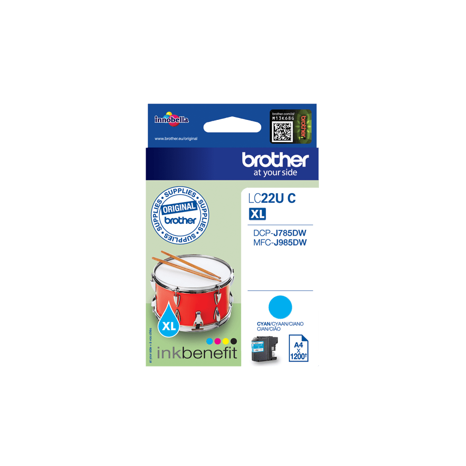 Brother LC22UC Cartuccia inkjet originale - ciano