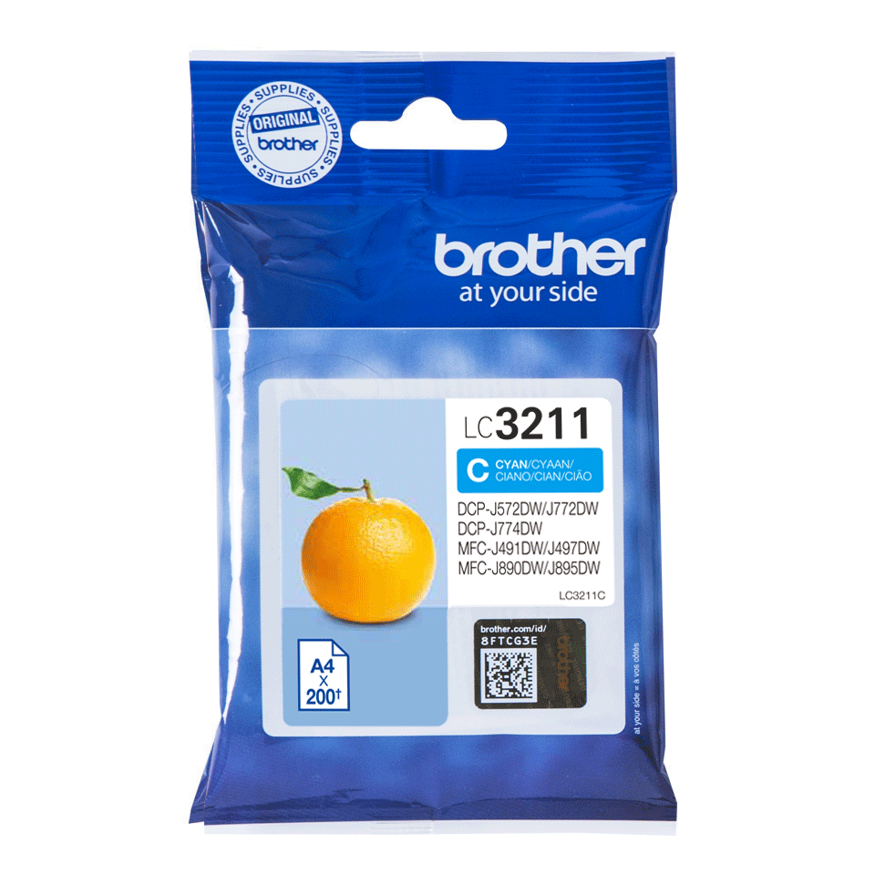 Brother LC-3211C Cartuccia inkjet originale - ciano 2