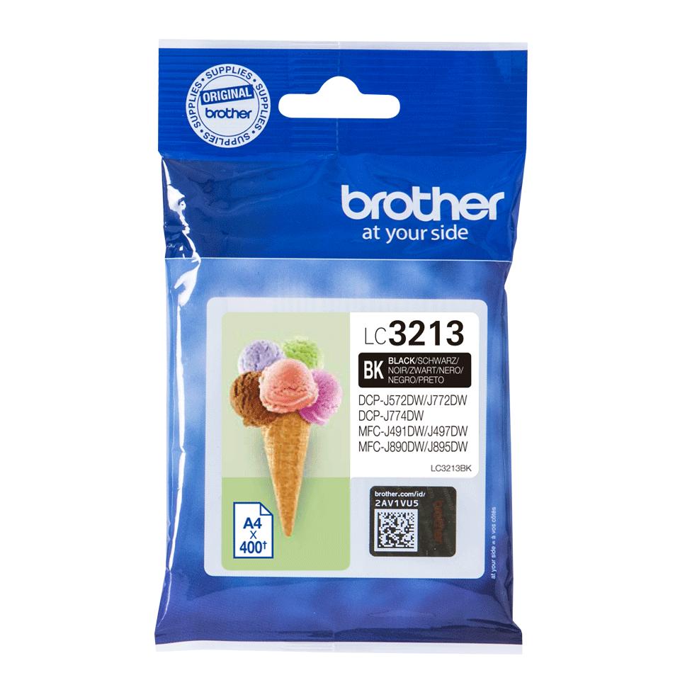 Brother LC3213BK Cartuccia originale inket - nero