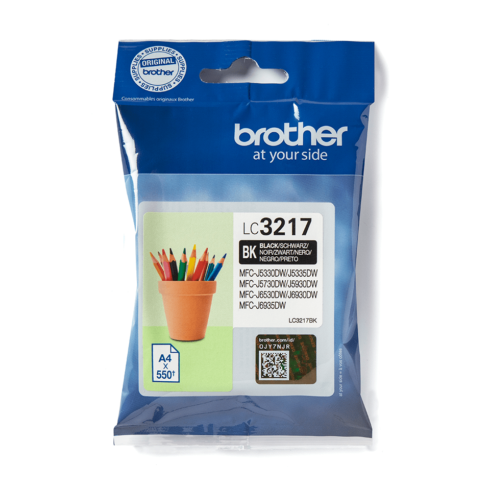 Brother LC3217BK Cartuccia originale inkjet - nero