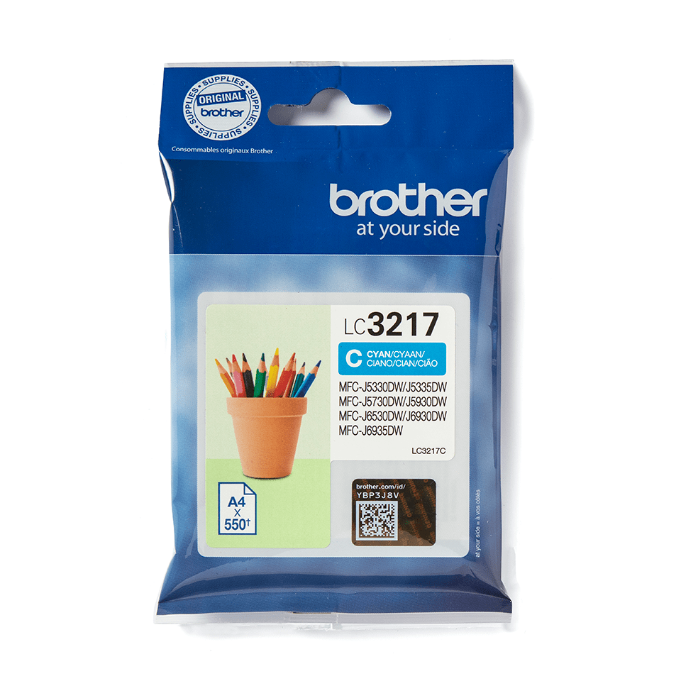 Brother LC3217C Cartuccia originale inkjet - ciano 2