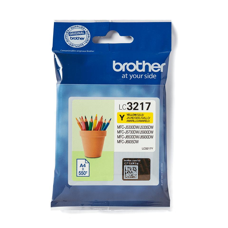 Brother LC3217Y Cartuccia originale inket - giallo 1