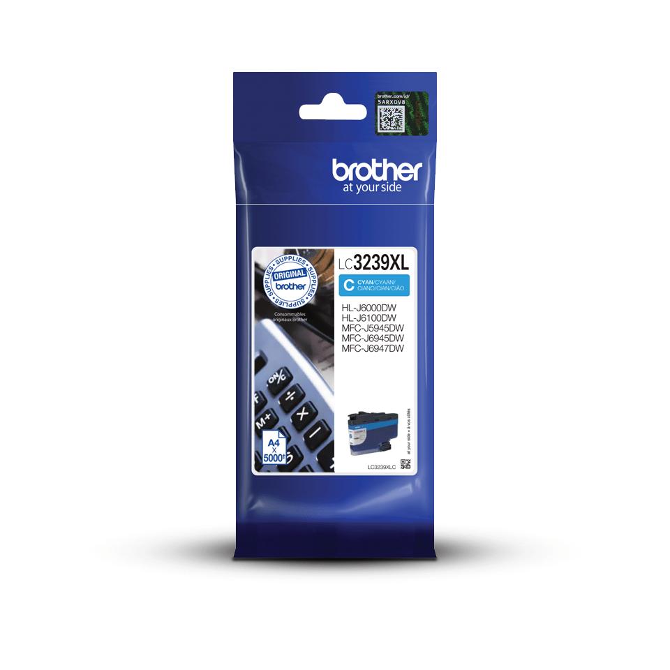 Brother LC-3239XLC Cartuccia originale inkjet ad altissima capacità - Ciano