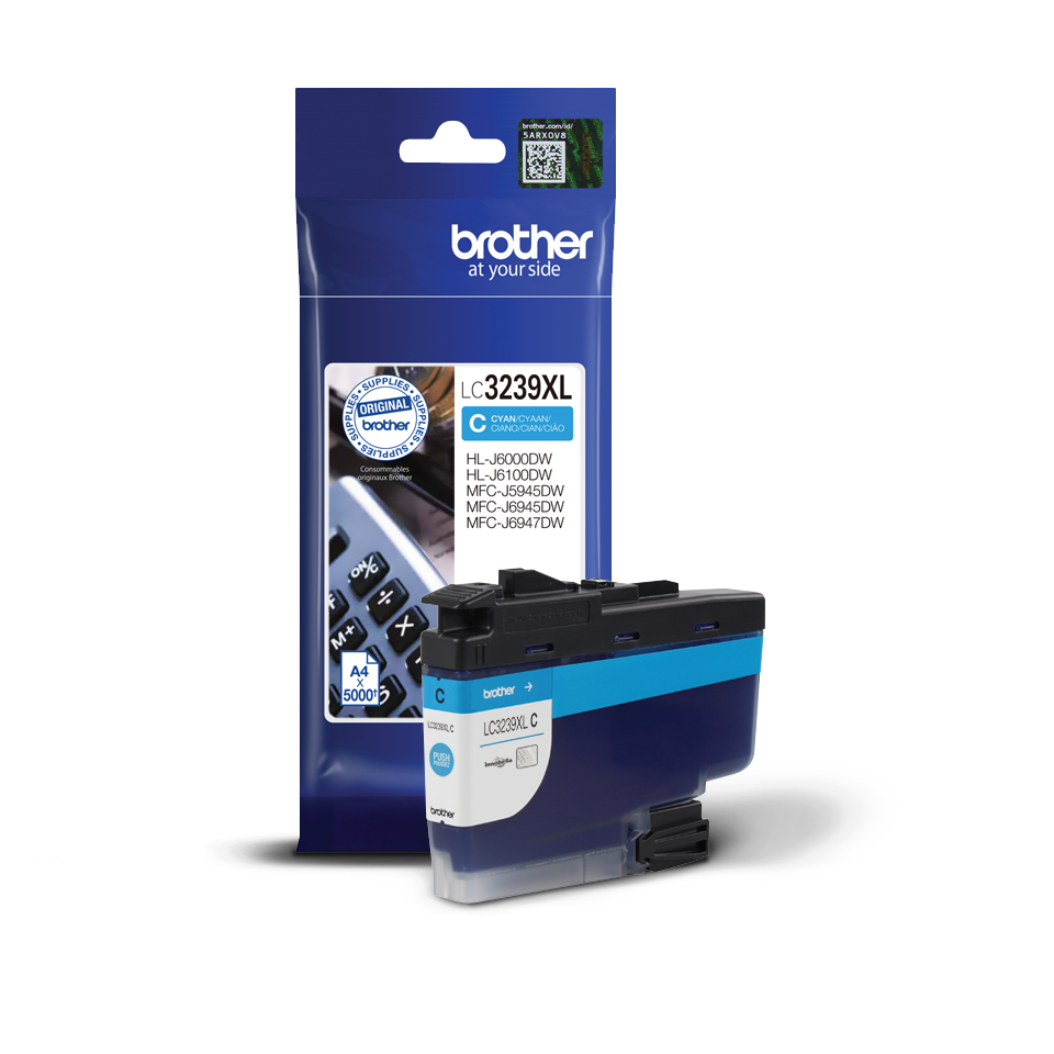 Brother LC-3239XLC Cartuccia originale inkjet ad altissima capacità - Ciano 2