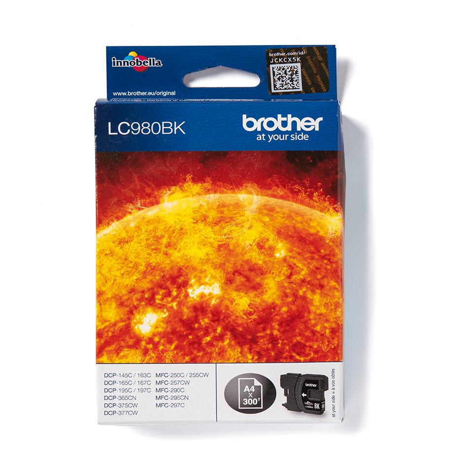 Brother LC980BK Cartuccia inkjet originale - nero