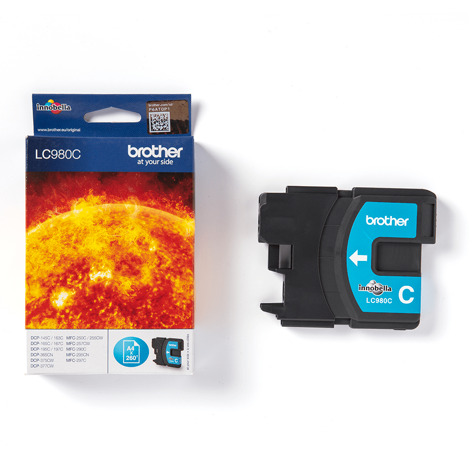 Brother LC980C Cartucca inkjet originale - ciano 2