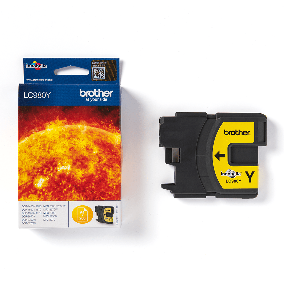 Brother LC980Y Cartucca inkjet originale - giallo 1
