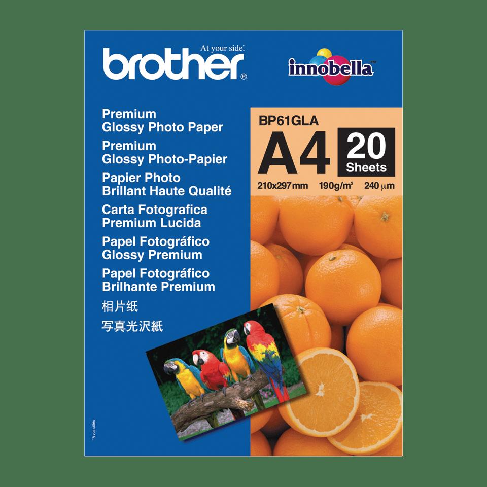 Brother BP-61GLA Carta fotografica patinata originale formato A4