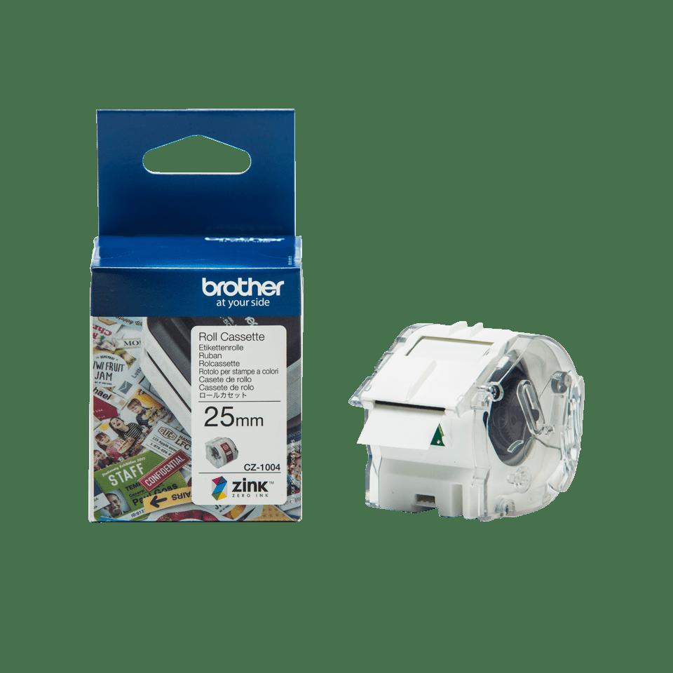 Brother CZ-1004 Rotolo originale a lunghezza continua per etichette a colori - ampiezza 25 mm