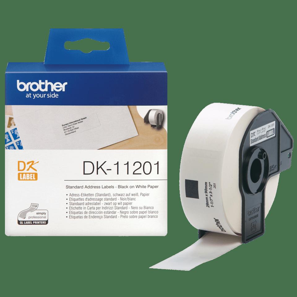 Rotolo di etichette originale Brother DK-11201 – Nero su bianco, 29 mm x 90 mm 3