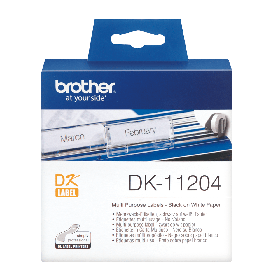 Brother DK-11204 etichette originali multiuso - 17 x 54 mm