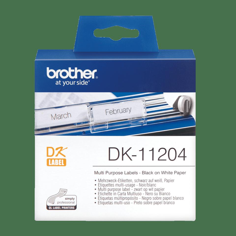 Brother DK-11204 etichette originali multiuso - 17 x 54 mm