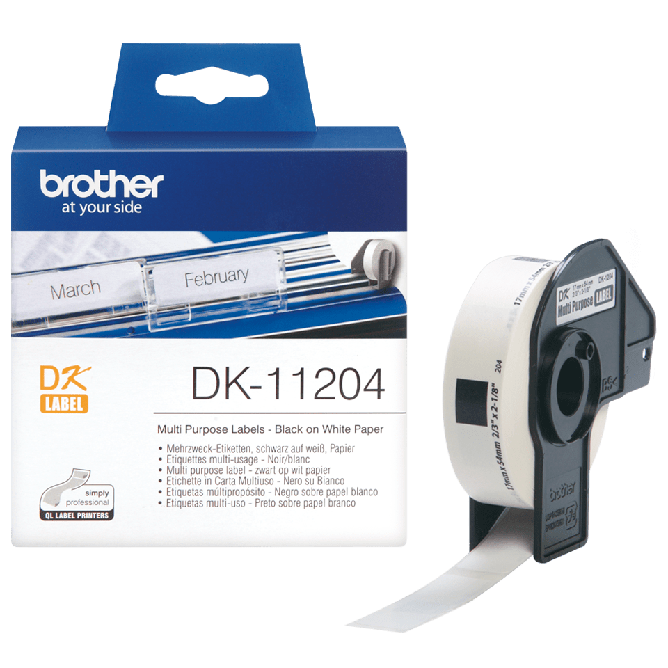 Brother DK-11204 etichette originali multiuso - 17 x 54 mm 3