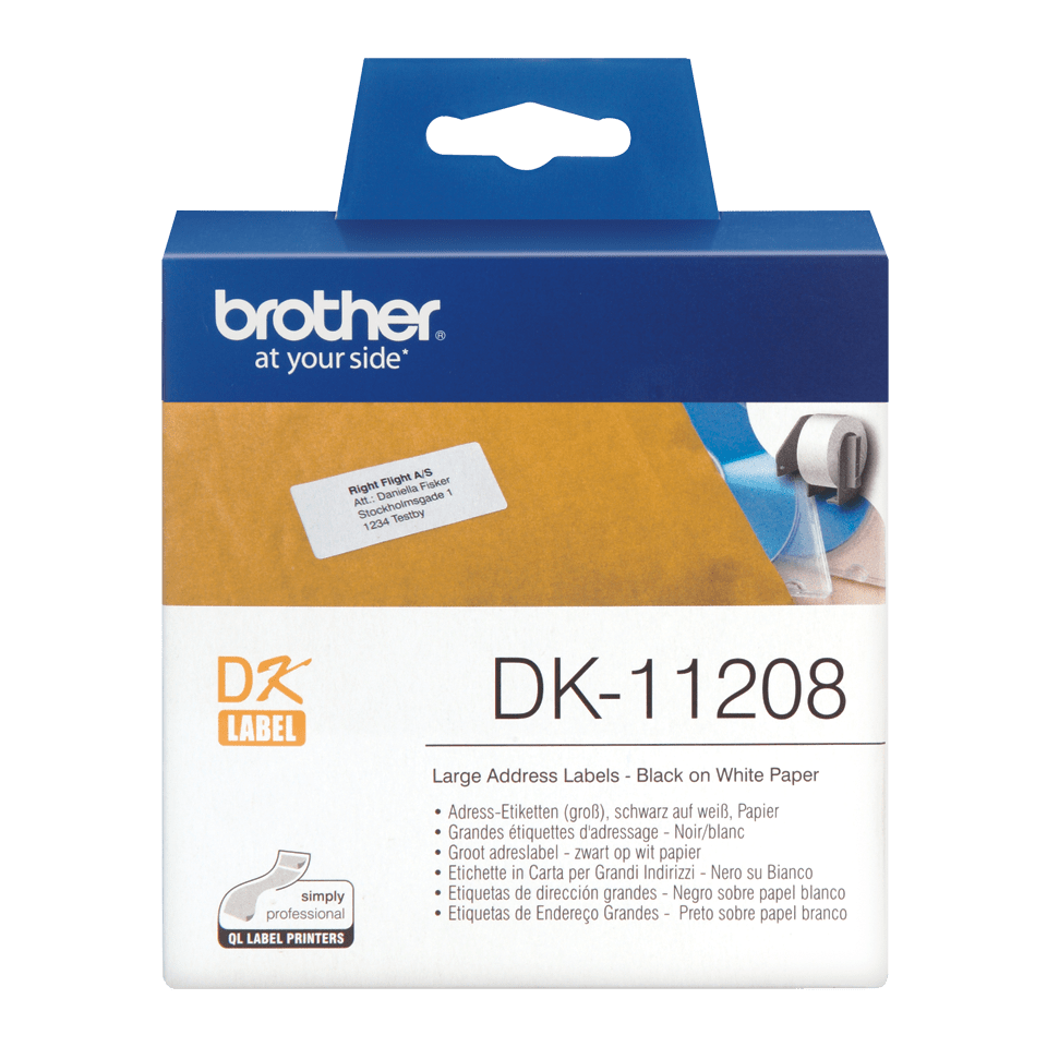 Brother  DK-11208 Etichette originali grandi per indirizzi - 38 x 90 mm