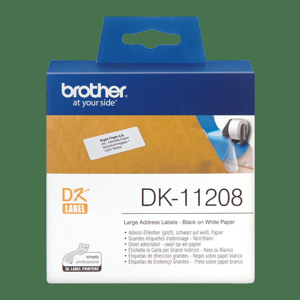 Brother  DK-11208 Etichette originali grandi per indirizzi - 38 x 90 mm 0