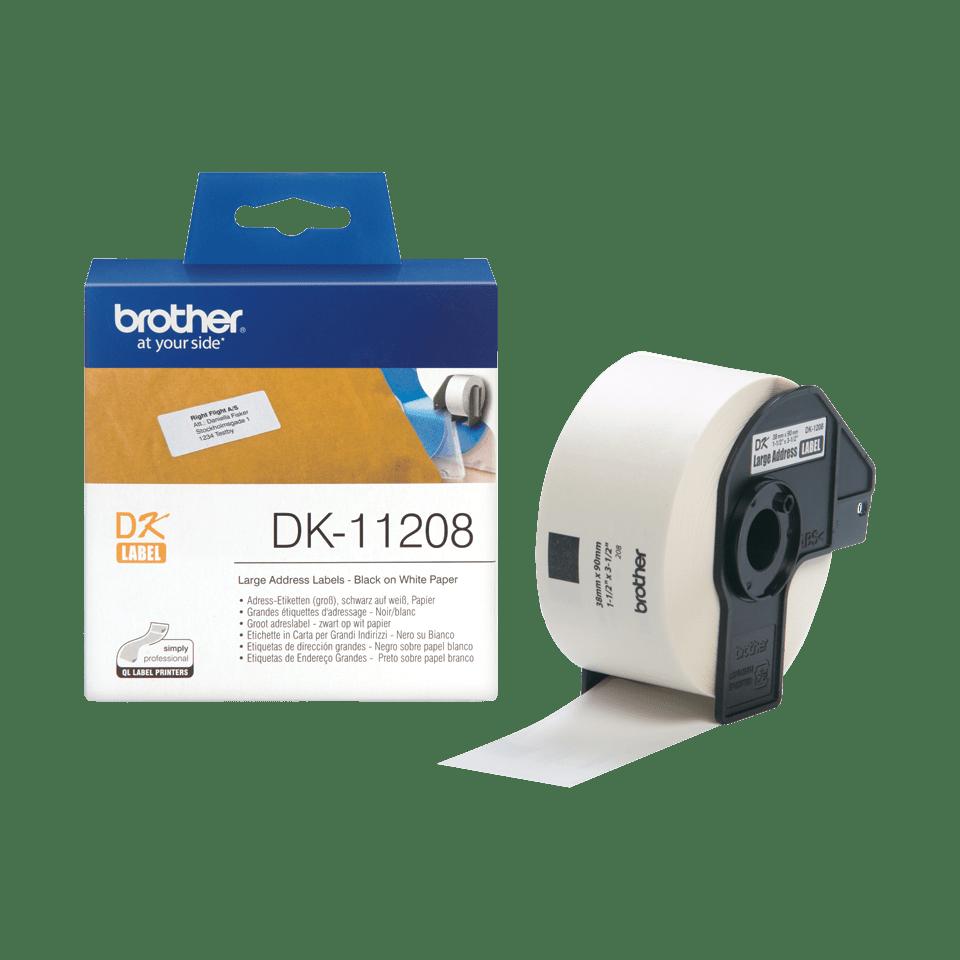 Brother  DK-11208 Etichette originali grandi per indirizzi - 38 x 90 mm 2