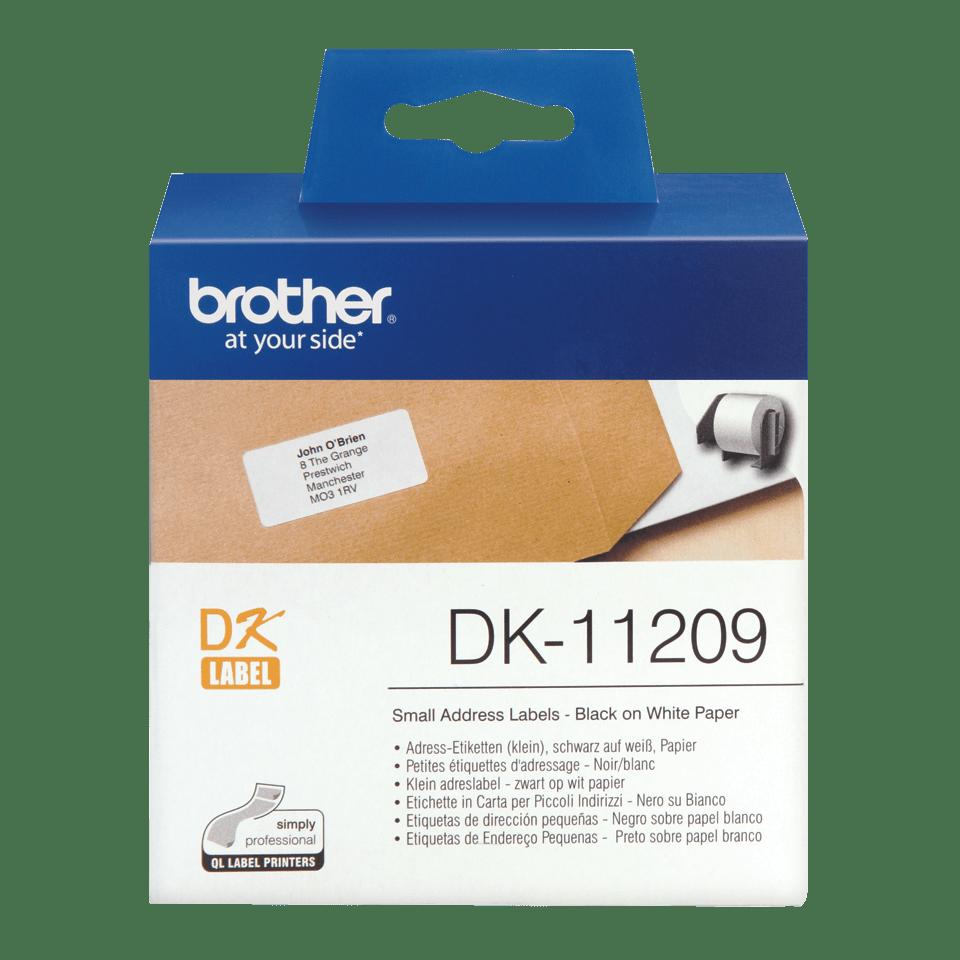 Brother DK-11209 Etichette piccole originali per indirizzi, 29 mm x 62 mm