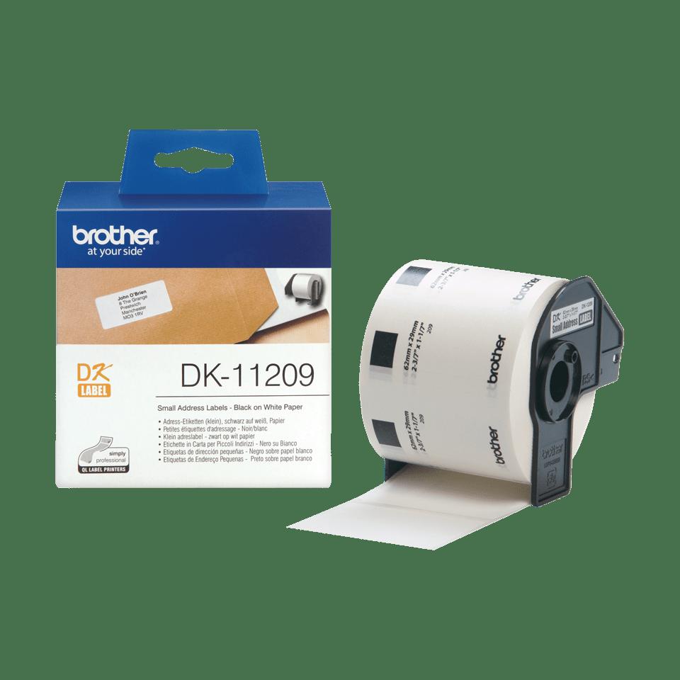 Brother DK-11209 Etichette piccole originali per indirizzi, 29 mm x 62 mm 3