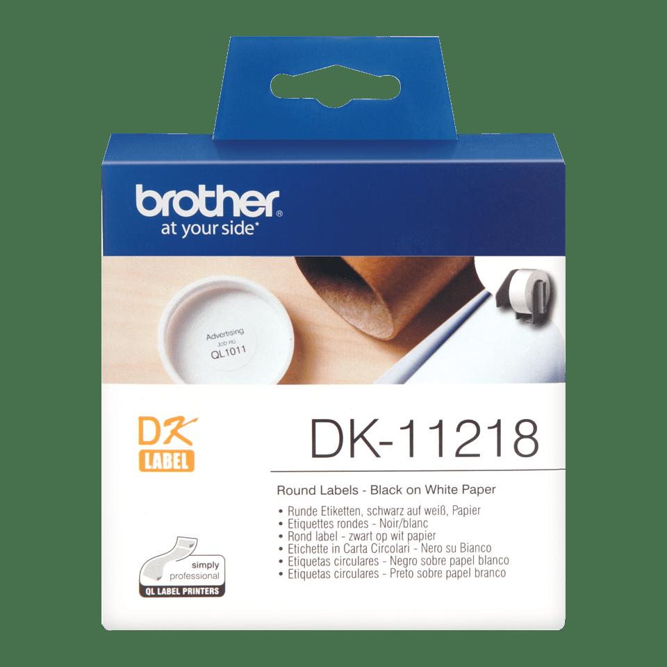 Rotolo di etichette originale Brother DK-11218 – Nero su bianco, 24 mm x 90 mm Ø 24 mm 0