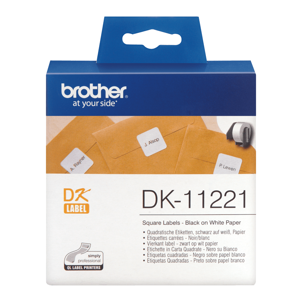 Brother DK-11221 etichette originali quadrate, 23 x 23 mm 0