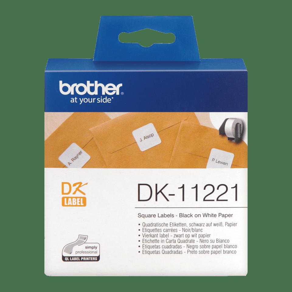 Brother DK-11221 etichette originali quadrate, 23 x 23 mm
