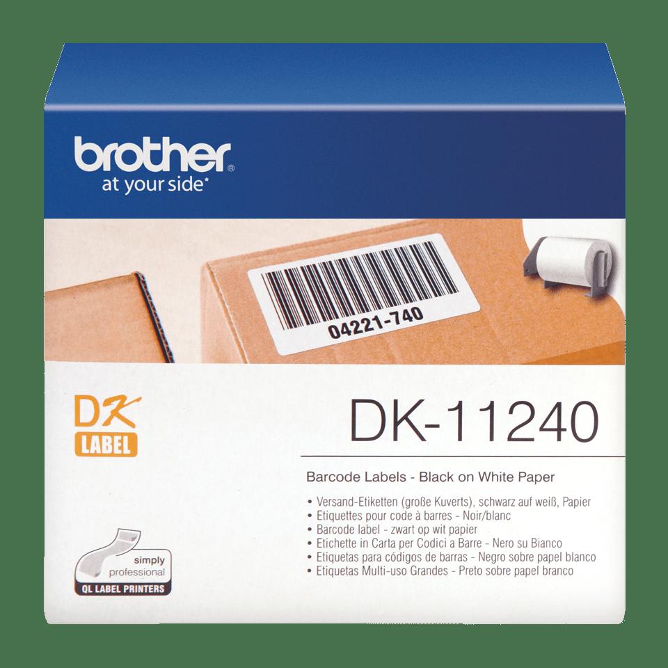 Rotolo di etichette originale Brother DK-11240 – Nero su bianco, 102 mm x 51 mm