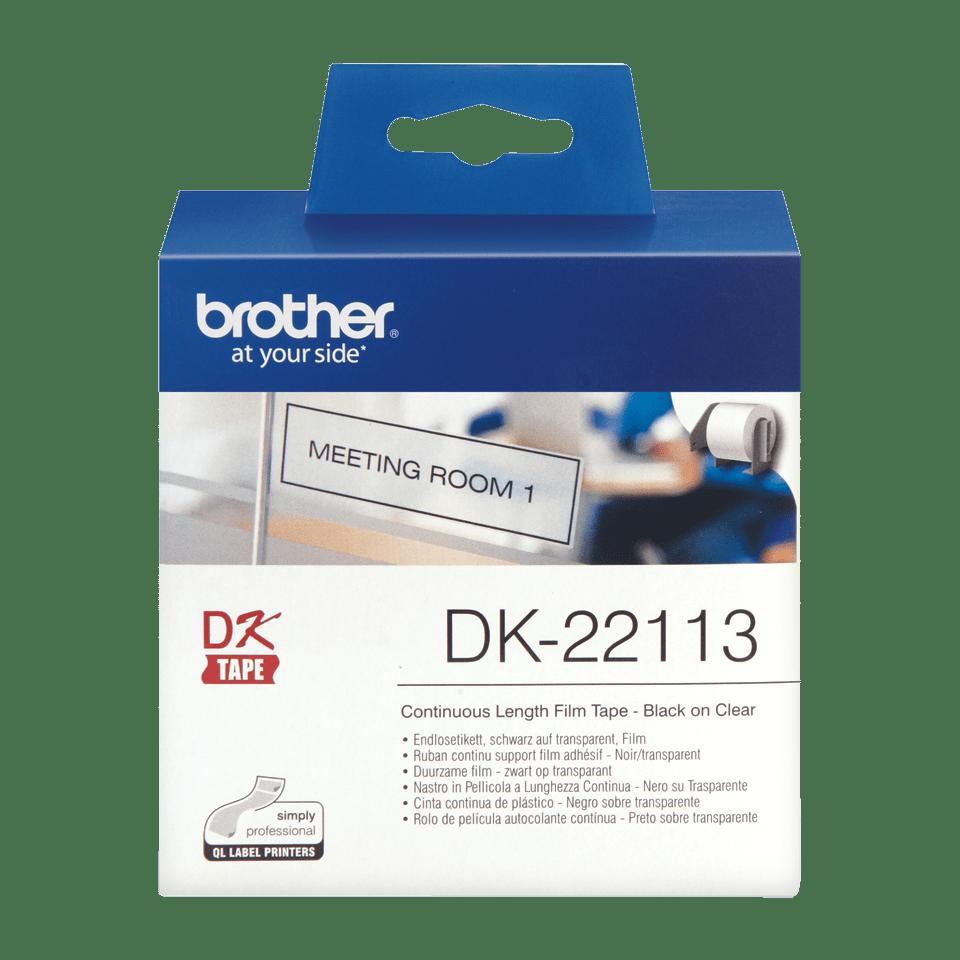 Brother DK-22113 Etichette originali pellicola trasparente, 62 mm 2