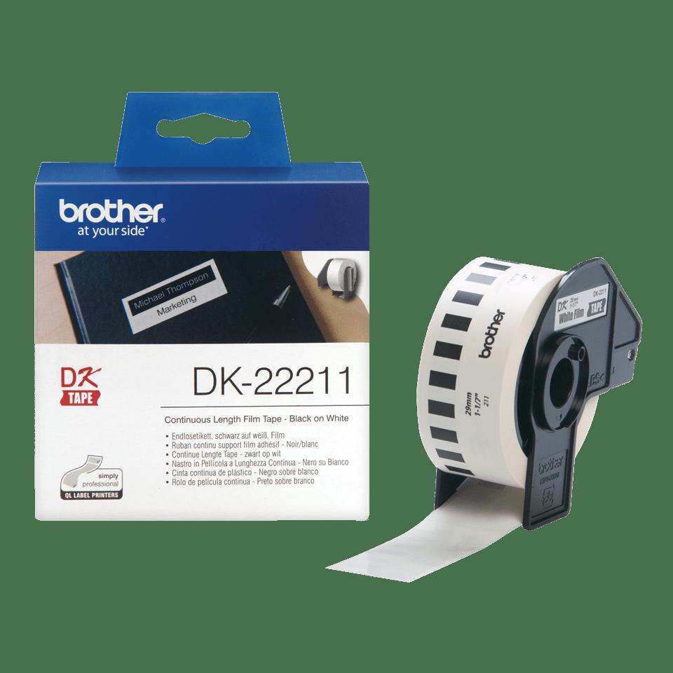 Rotolo di etichette originale Brother DK-22211 – Nero su bianco, 29 mm x 15,24 m 2