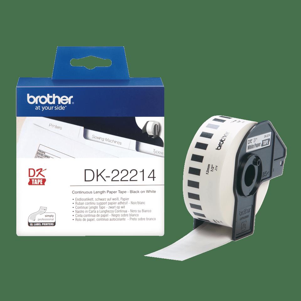 Brother DK-22214 Etichette originali, 12 mm - nero su bianco 3